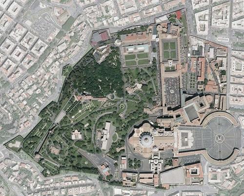 Vatican Map-Aerial