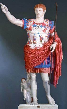 Emperor Augustus painted